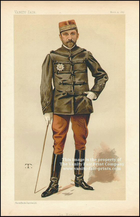 Vanity Fair Print : General George Boulanger  1887